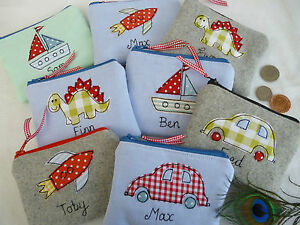 Handmade-Personalised-Boys-Purse-Wallet-Choice-of-designs-amp-name-Party-Bag-Gift