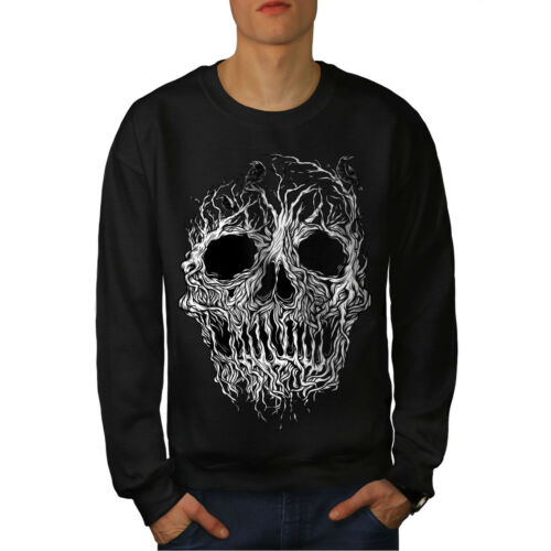 enterrement Casual Pullover Pull Wellcoda TREE Crâne Horreur Homme Sweat