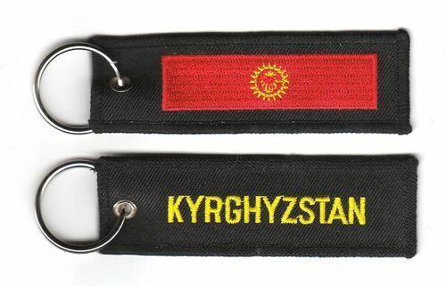 Schlüsselanhänger Kirgistan Flagge Fahne