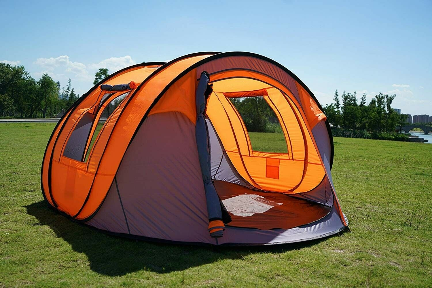 Oileus Pop-up Tents Camping 4 bis 6 Person Tent Sky-Window(45 im Kombi-Stil)
