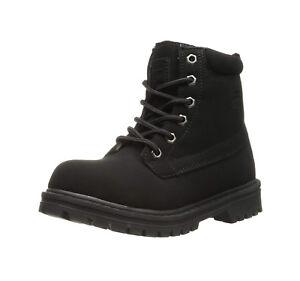 Fila краевой воды 12 пешие прогулки черный нубук на шнуровке молодежная обувь большой ребенок сапоги
