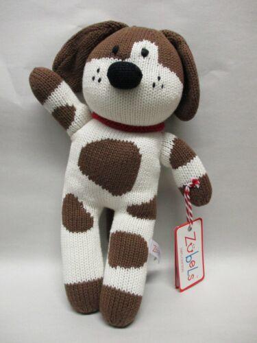 "Zubels 12/"" Handknit 100/% Cotton Dog Stuffed Animal Doll"