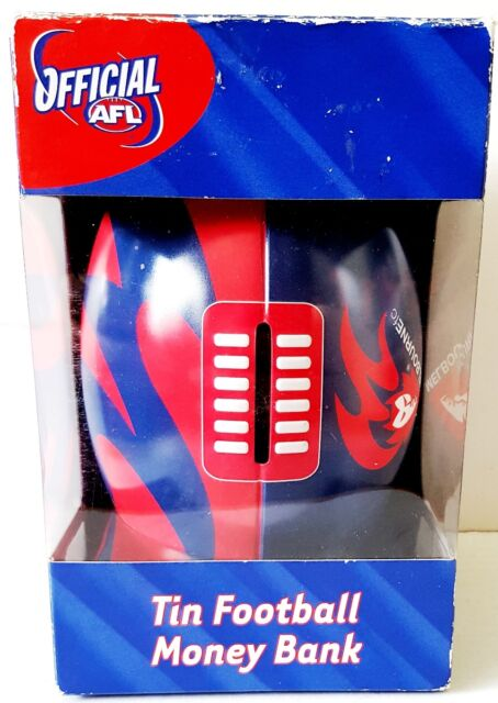 Official AFL MELBOURNE DEMONS Football Club Team Tin MONEY BOX BANK