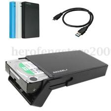 SEATAY USB 3.0 2.5'' SATA HDD SDD Hard Drive Disk Enclosure External Case Cover