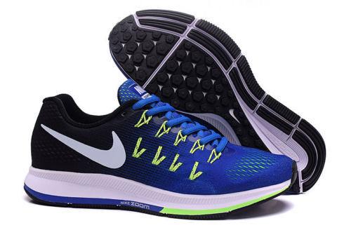 huge selection of 6796c 5bac2 Nike Air Zoom Pegasus 33 Mens Running Training Shoes Blue Green 831352 400