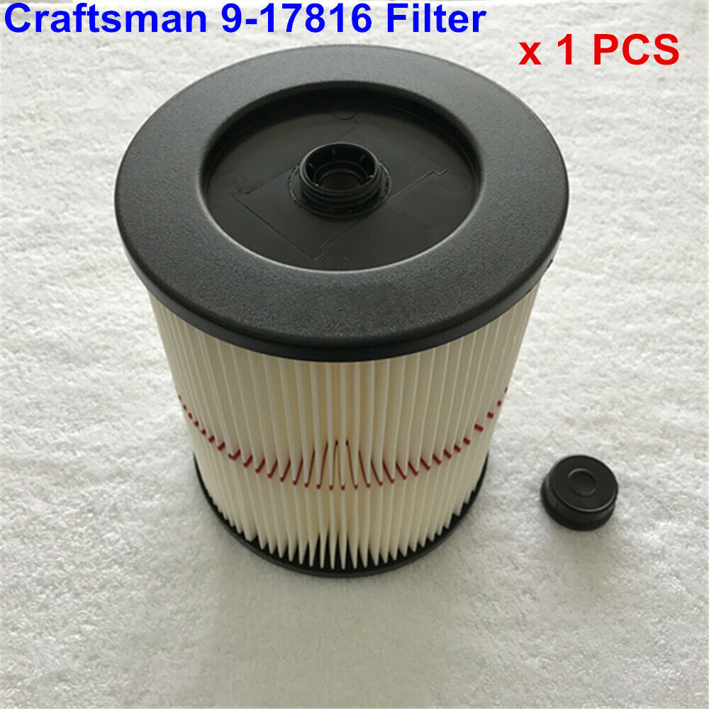 Premium Fine Red Stripe 9-17816 Filter Compatible with Craftsman Vacuum Clea NY