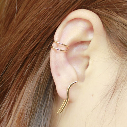 Gold HELIX Oreille poignets Cartilage Boucle d/'oreille alpinistes simple No Piercing Oreille Manchette