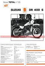 SUZUKI DR 400 S DR400 Fiche Technique Moto 000320
