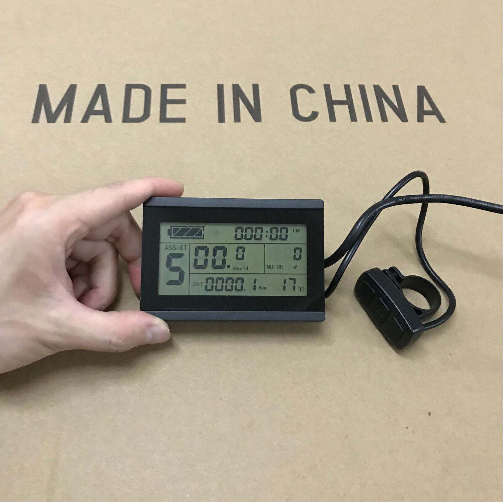 Ebike 24V 36V 250W 250W 250W S06S Controller Kit+LCD3 Display+Throssotle+Brake Levers +12PAS 2cd1ec