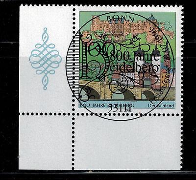 Bundesrepublik Deutschland 1868 Gestempelt Heidelberg Eckrand Unten Links Ausgezeichnete (In) QualitäT