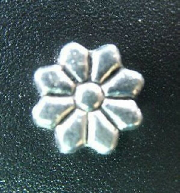 30pcs Tibetan Silver Carved Flower Spacer Beads 9mm T82