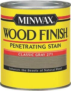 New Minwax 22761 Classic Gray Interior Oil Based Wood Finish Stain 7965780 Ebay