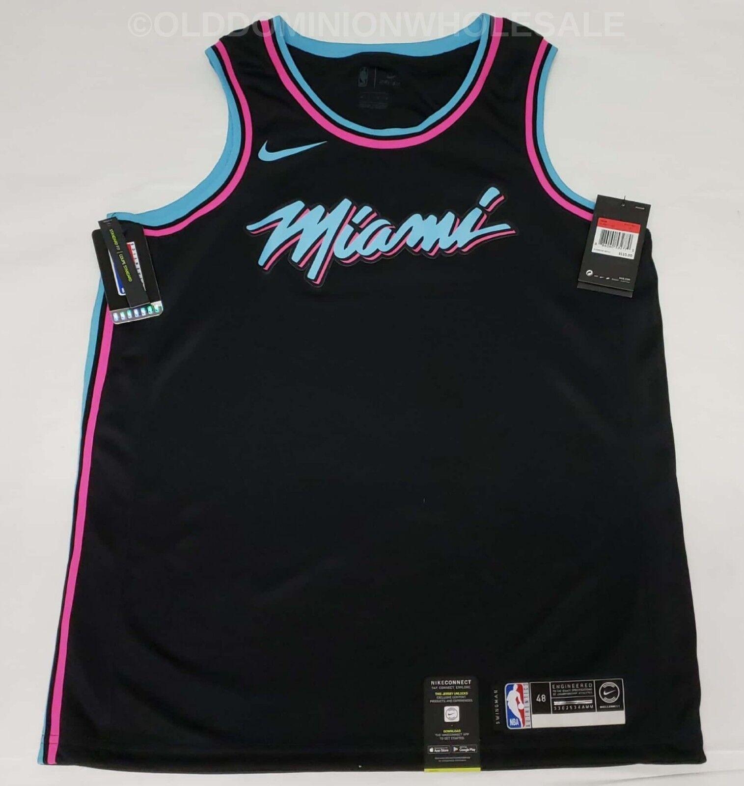 the latest 413e2 16d52 NEW Nike NBA Miami Heat City Edition Miami Vice Large 2018-19 Swingman  Jersey