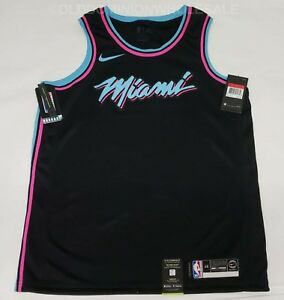 701654a5a86 NEW Nike NBA Miami Heat City Edition Miami Vice Large 2018-19 ...