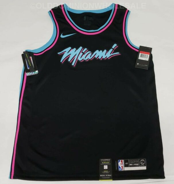the latest 78faa 8749e NEW Nike NBA Miami Heat City Edition Miami Vice Large 2018-19 Swingman  Jersey