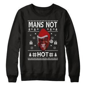 d1f036ca5 Mans Not Hot Christmas Sweatshirt Jumper Sweater Men Women Kids Manz ...