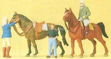 H0 Preiser 10503 Sobre el Paseos a caballo. figuras. EMB.ORIG