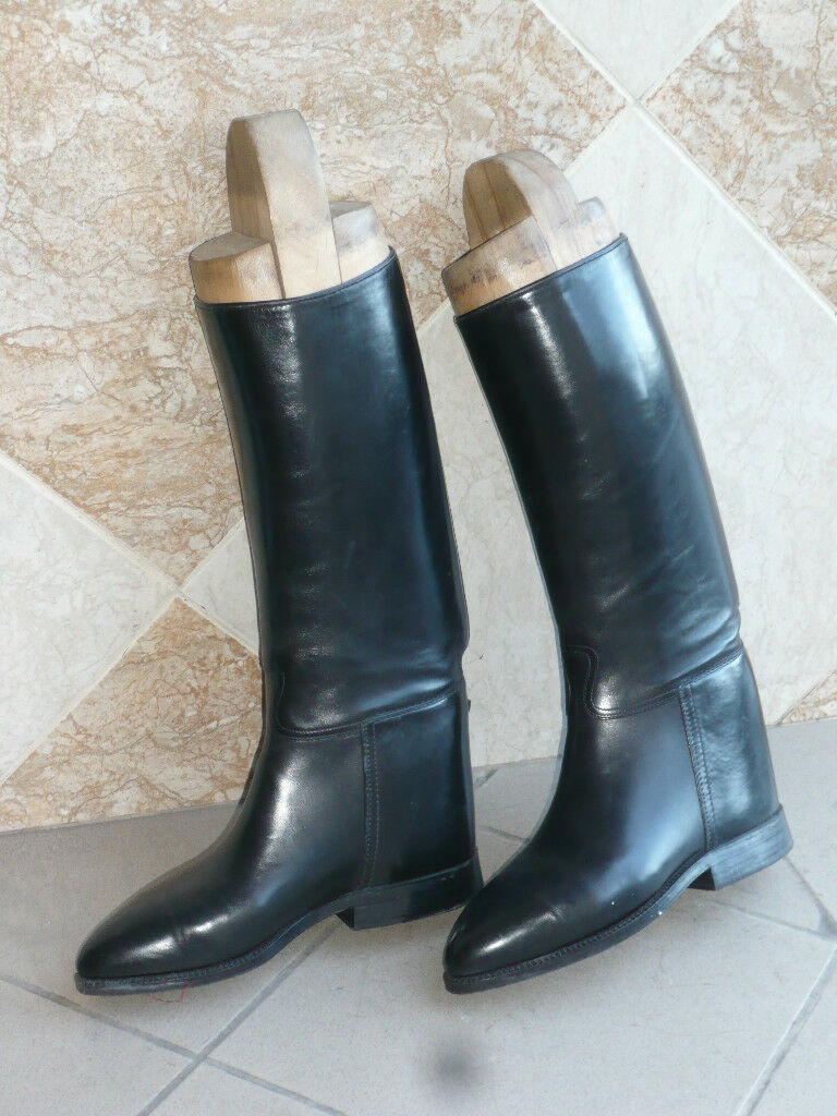 Bottes de cavalerie  Polonaise  (black) DELAUNAY Bottier  PARIS  -  41,5