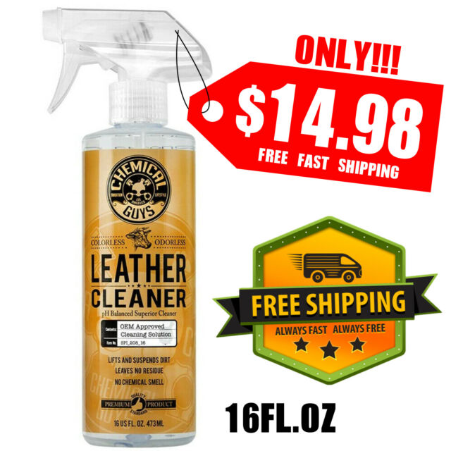 Chemical Guys SPI_208_16 Colorless and Odorless Leather Cleaner (16 oz) 1Bottle