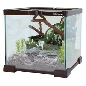 Details about Komodo Glass Nano Habitat Small Reptile Vivarium Stackable  Spider Insect Tank