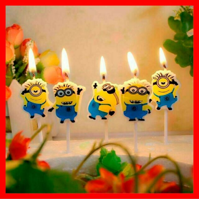 Marvelous Birthday Minions Despicable Me Cake Candle Candles Topper Party Funny Birthday Cards Online Elaedamsfinfo