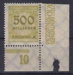 DR-Mi-Nr-324-UR-mit-PN-6-Infla-Rosette-Deutsches-Reich-1923