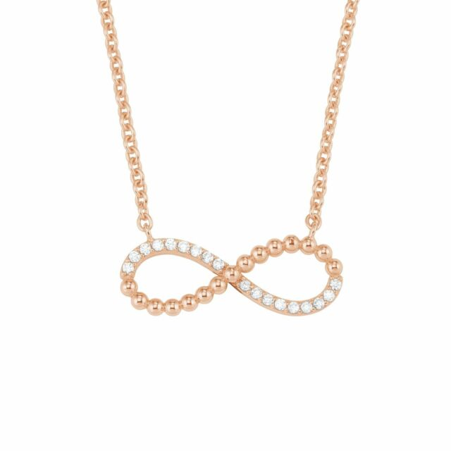S.Oliver Halskette Infinity rosévergoldet Zirkonia funkelnd 925er Sterlingsilber