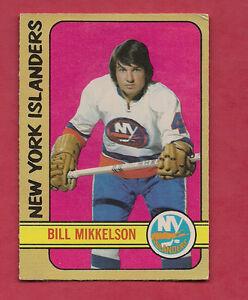1972-73-OPC-79-ISLANDERS-BILL-MIKKELSON-EX-MT-ROOKIE-CARD
