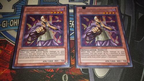 2x Kycoo the Ghost Destroyer Secret Rare LP Yugioh LCYW-EN242