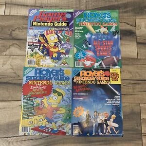 Lot of 4 Game Player's Strategy, Nintendo Buyers Guide, Game Payers - See Photos