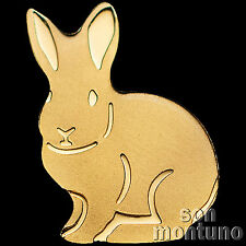 24K GOLD RABBIT - 1/2 Half Gram 11mm One Dollar Coin in Capsule + COA - PALAU