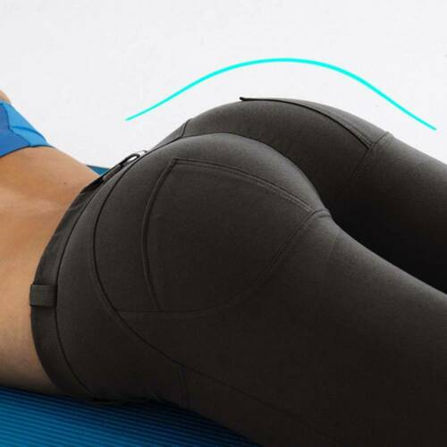 Women Butt Lift Leggings Yoga Pants Gym Workout Sports Running Push Up Trousers