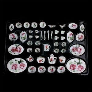 Miniatur Essgeschirr Set Puppen Porzellan Geschirr Küchengeschirr Keramik 1:12