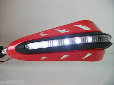LED Rojo Protectores Moto Enduro Streetfighter CRF Xlr Xr CBF CB Cbr Nx FMX
