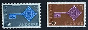 Timbre poste. Andorre Français. Europa.  n°188 & 189. année 1968 Neufs