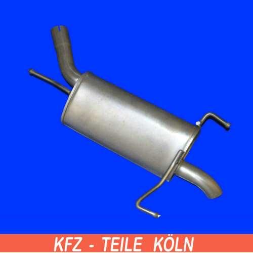 ENDSCHALLDÄMPFER Auspuff Schalldämpfer Endtopf 1.7 CDTI Corsa C Opel