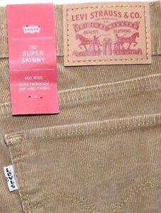 Levi-039-s-710-Women-039-s-CORDUROY-SUPER-SKINNY-Jeans
