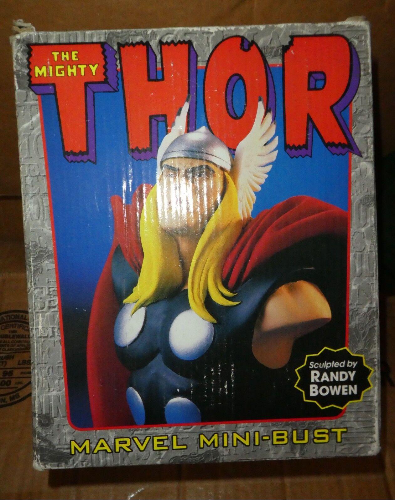Marvel comics original Thor wings unglued ,signed Bust Boxed bowen low ed 7