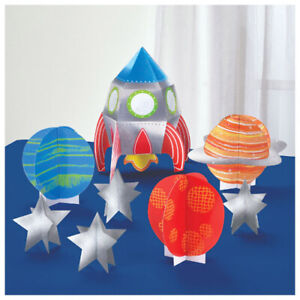 Image Is Loading HAPPY BIRTHDAY Blast Off DELUXE TABLE DECORATING KIT