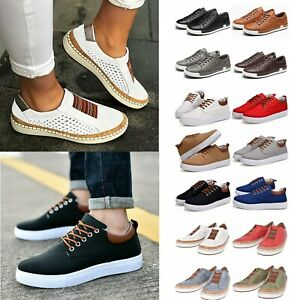 Men-Women-Casual-Sneakers-Flats-Loafers-Trainers-Rubber-Sole-Pumps-Sports-Shoes