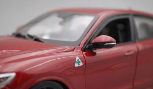 1:24 Bburago ALFA ROMEO Stelvio véhicule utilitaire sport Alliage Sports Modèle De Voiture Enfants Garçons Jouets