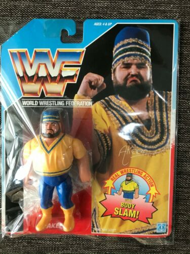 Hasbro Figura WWF WWE AKEEM WRESTLING Figura 1990 US Blue Japan inutilizzati FedEx K
