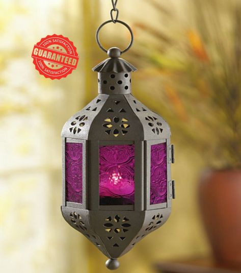 Hanging Pierced Moroccan Fairy Lantern Candle Light Holder Outdoor Terrace Decor