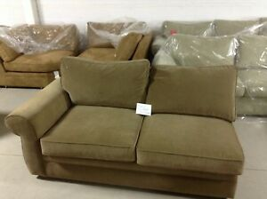 Stupendous Details About Pottery Barn Pearce Couch Sofa Sectional Sage Velvet Left Arm Loveseat Machost Co Dining Chair Design Ideas Machostcouk