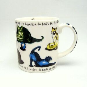 PAUL-CARDEW-Porcelain-Pussy-Cat-Nursery-Rhyme-10-oz-Coffee-Tea-Mug-Cup-Charming