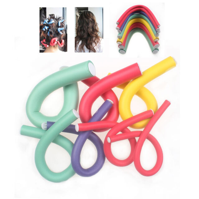10 Pcs Sponge Curler Maker Bendy Twist Curls DIY Tools Styling Hair Rollers