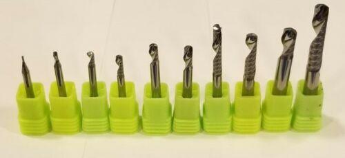 """Single Flute Aluminum CNC bit Upcut  1//8/"""" D plus other sizes"""