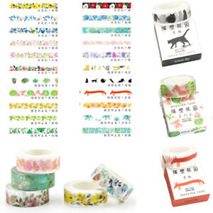 Decorative-Roll-Washi-Tape-Sticky-Paper-Masking-Adhesive-Craft-Colorful-DIY-1PC