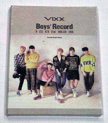 VIXX - Boys' Record (Special Single) CD+62p Booklet+Photo+Photocard+Poster K-POP