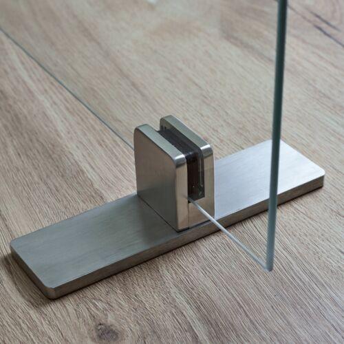 Fuß Glashalter EDELSTAHL Glasklemme Klemmhalter V2A Glasklemmhalter inkl